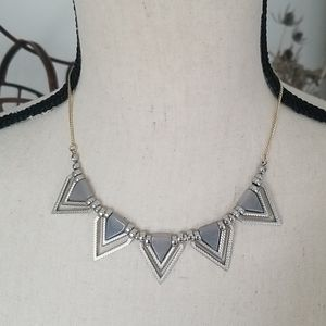 Triangle necklace from PacSun stones